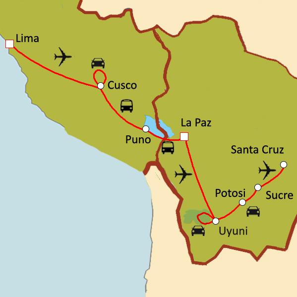 itinéraire pérou bolivie