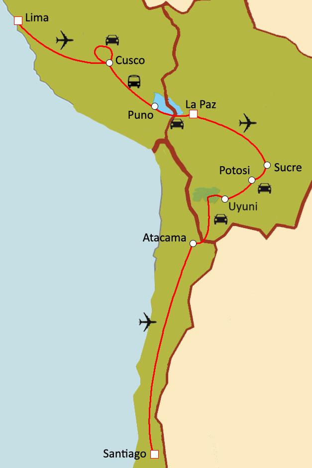 Populaire Circuit sur mesure Trilogie Andine : Pérou, Bolivie, Chili JY76