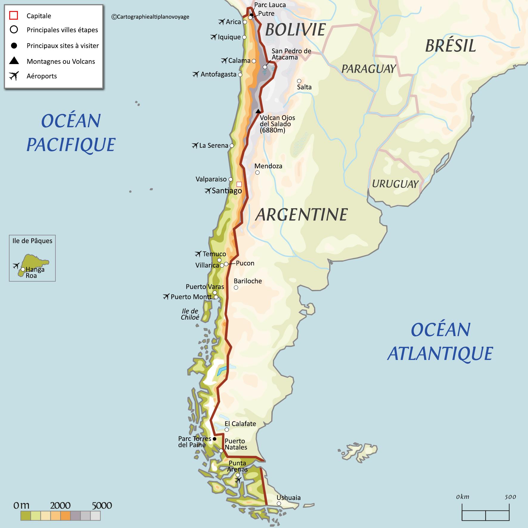 Informations pratiques du voyage au Chili