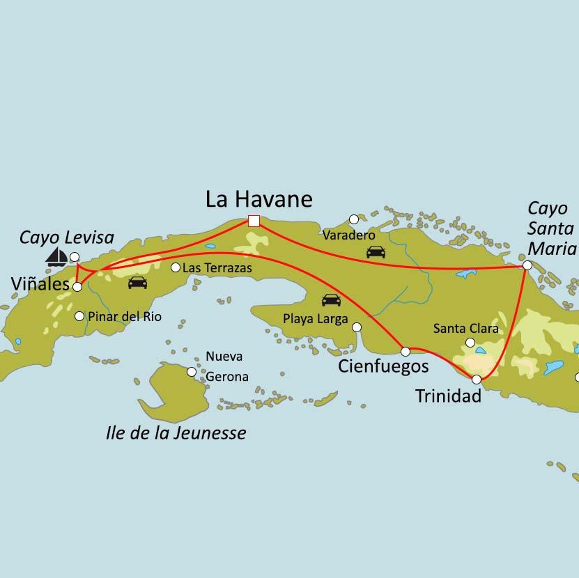 Carte Cuba Cayo Levisa.Circuit Sur Mesure Voyage De Noces A Cuba