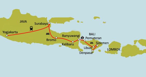 Carte Java Bali Lombok.Circuit Sur Mesure Java Bali Tresors D Indonesie