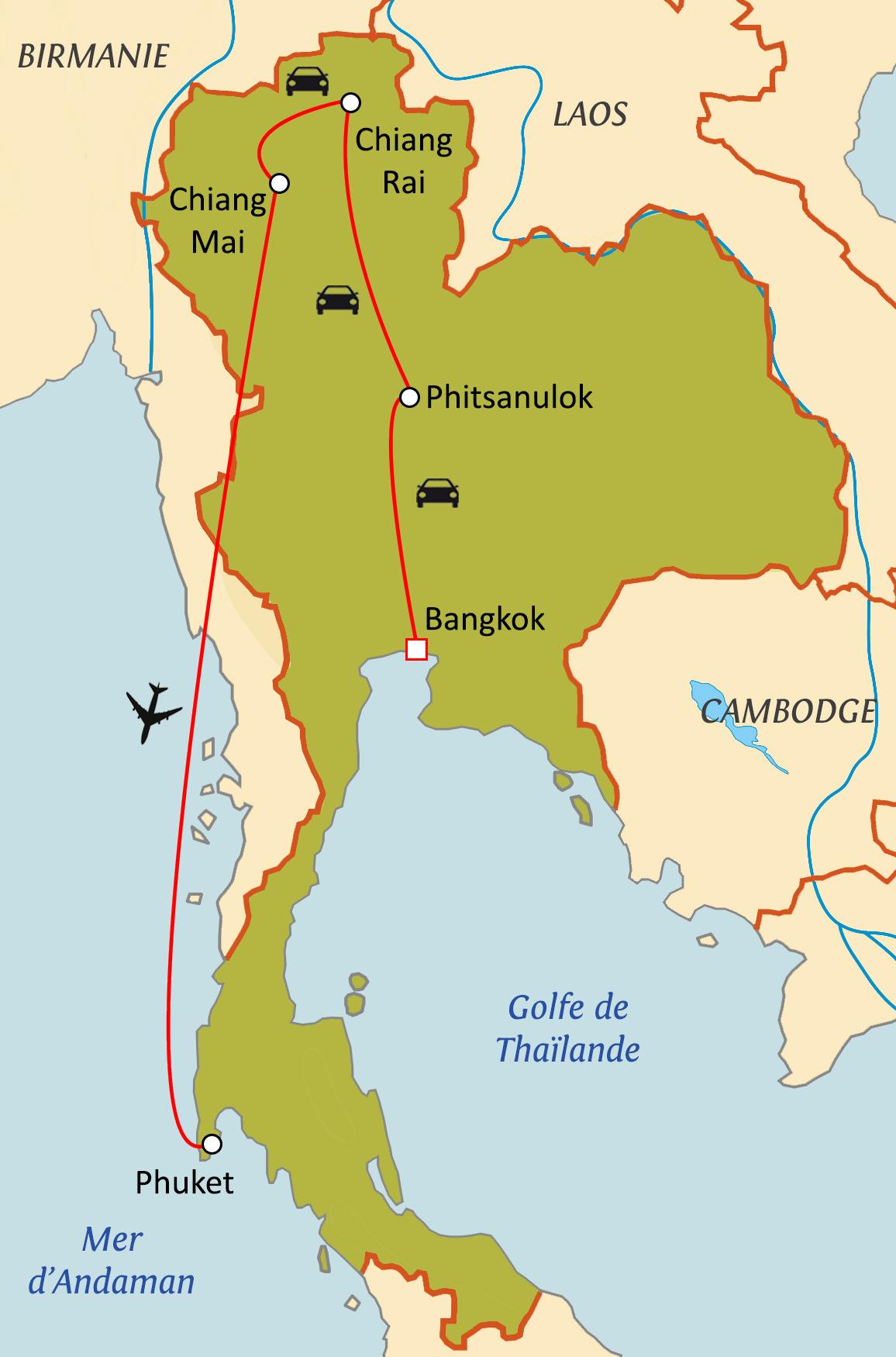 Circuit sur mesure Trésors de Thaïlande